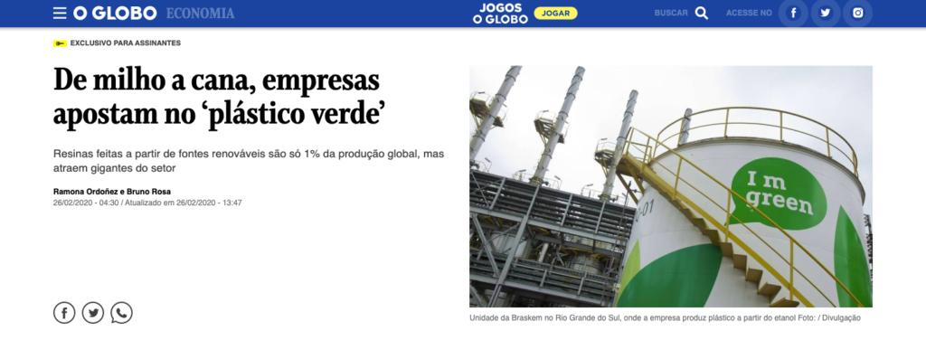 Imagem com link para a matéria do O Globo